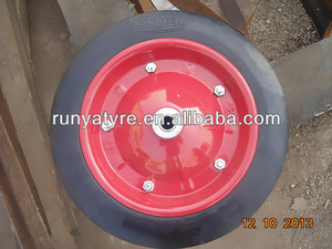 Semi pneumatic wheel 13*3