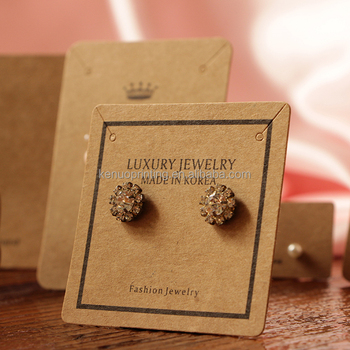 Custom Printed Jewelry And Necklace Earring Cards Packaging