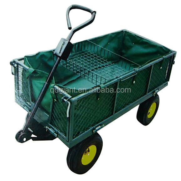 decorative used garden wagon cart