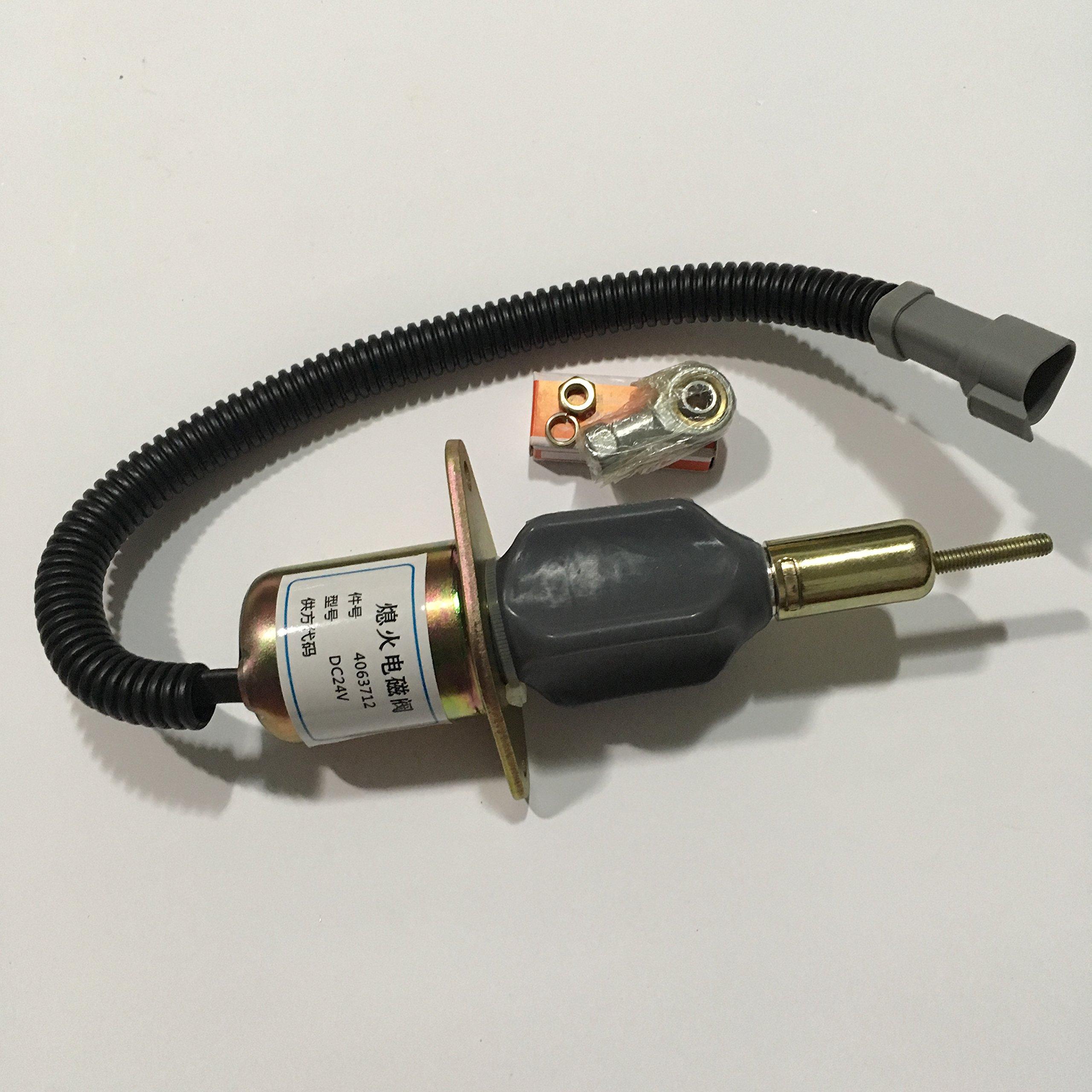 Blueview diesel shut off solenoid 4063712,24V for Cummins C8.3L engine Komatsu