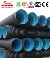 SN8 80inch HDPE Twin Double Wall Corrugated Sewer Drainage Pipe