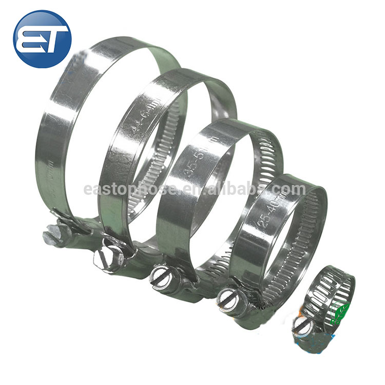 best quality adjustable stainless steel hose clamp hose pipe reinforced strength American Type Worm Drive Hose Clamp