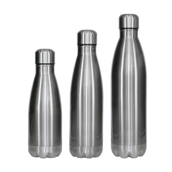 STAINLESS STEEL VACUUM THERMOS FLASK INSULATED BULLET DOUBLE WALLED HOT OR COLD