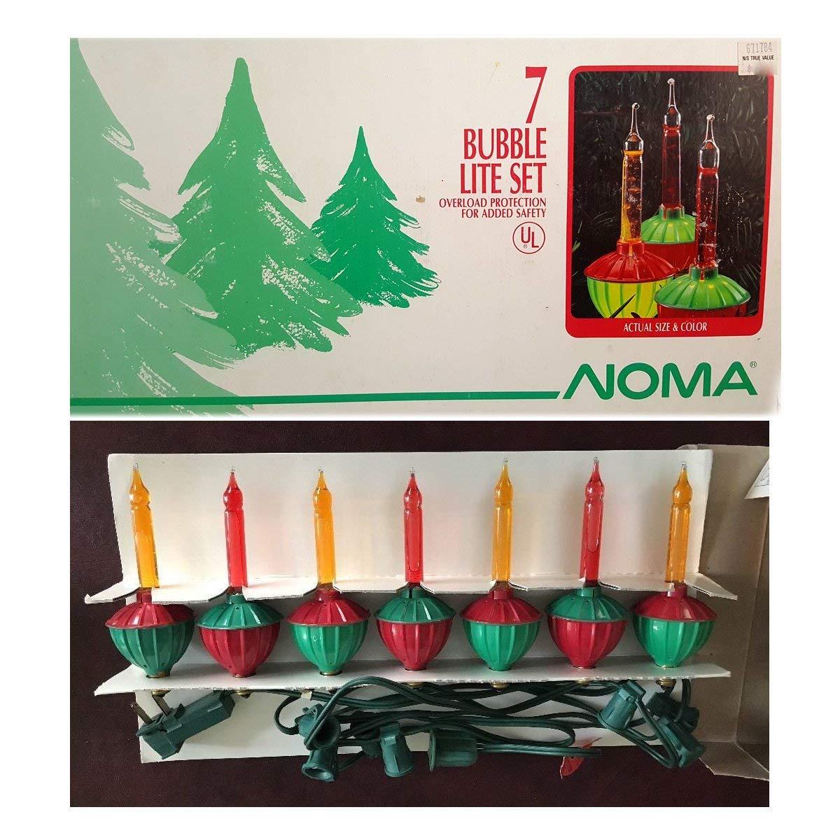 Noma Bubble Lite Set of 7 Vintage Special Edition Christmas Lights Nostalgia
