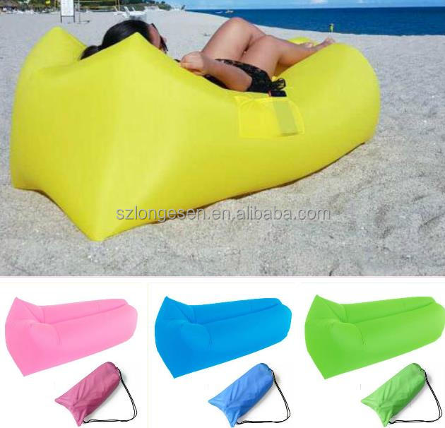 Hot Sell inflatable lounger air sofa nylon lazy bag home furniture air sofa bed