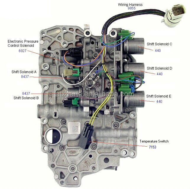 ATX 4F27E FN4AEL Gearbox valve body automatic atx 4f27e fn4ael gearbox valve body automatic transmission control 4l60e valve body diagram at aneh.co