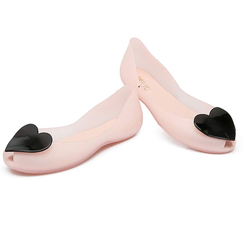 88ca19581 Get Quotations · LIURUIJIA Plastic Soft Comfort Women Sandal Shoes Peep Toe  Heart-Shaped Jelly Shoes Stweet To