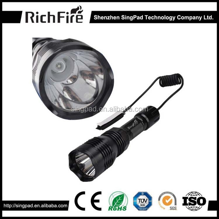 led hunting torch light, flashlight tactical for rifle