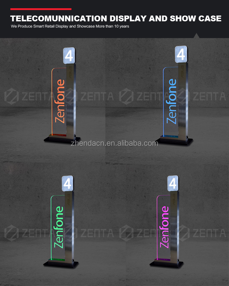 Acrylic Counter Top Mobile Phone Stand for Store Fixtures Display