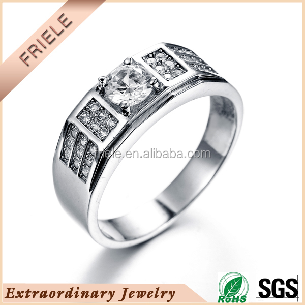 2015 AAA cz stone four claw prong setting 925 sterling silver ring, new design rings jewelry