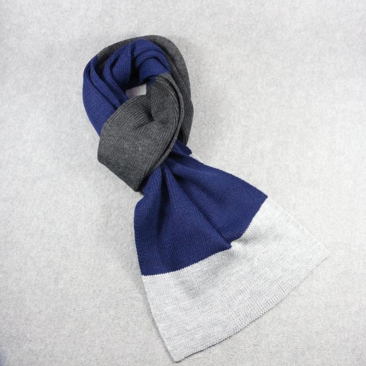 HZW-17050 Fashion design winter knit men wholesale custom brand <strong>scarf</strong>
