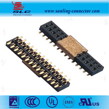 1.27mm pitch dual row SMT Type pin female header with locating Peg or CAP