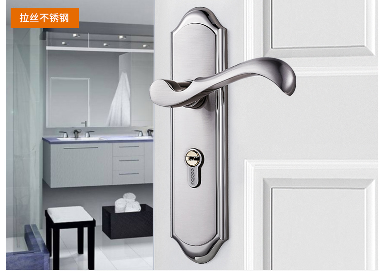 China factory stainless steel safety lock for bedroom door