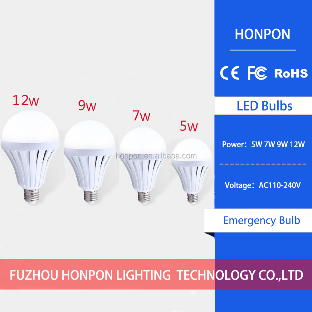 high end dimmable led emergency bulb light B22 E27 E26, led intelligent bulb light emergency use, led magic bulb