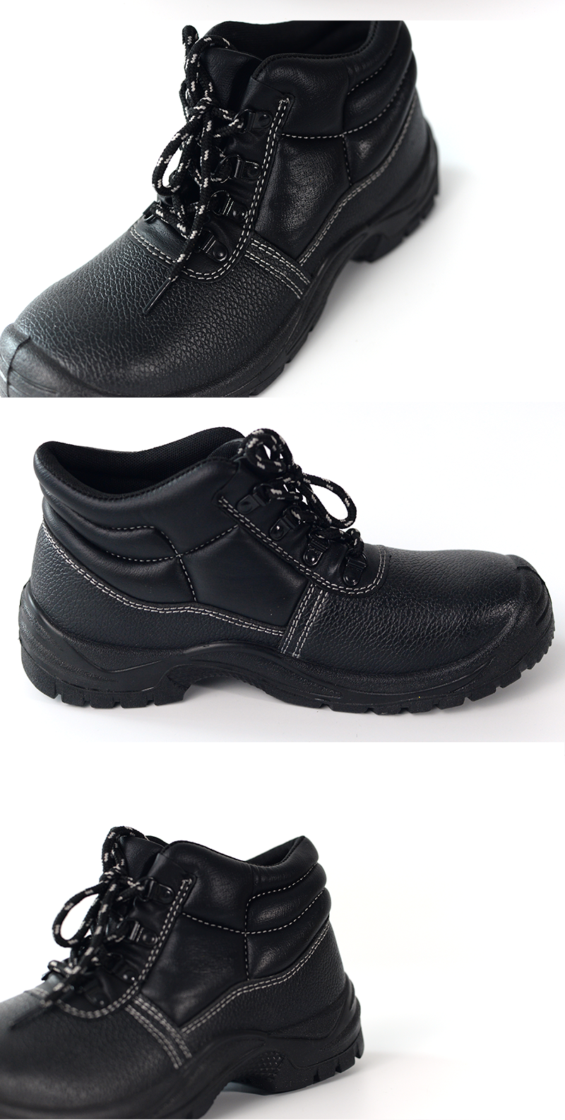 Anti-vibration genuine leather construction work shoes with steel toe cap steel toe safety shoes industrial boots safety shoes