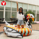 Giant attractive 0.3mm pvc swimming toys large safety inflatable colorful swan pool float for sale