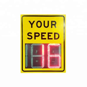 Speed Limit Display Signs Safety Solar Led Arrow Road Traffic Signal