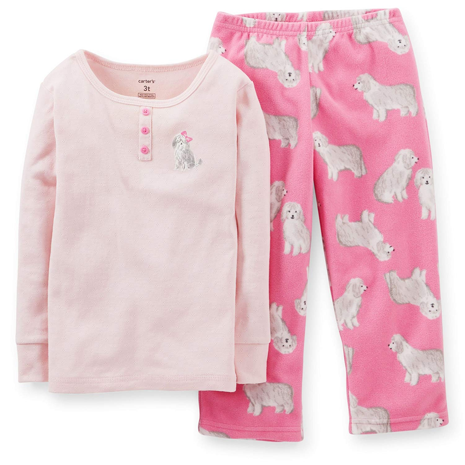 ac116a687f Get Quotations · Carter s Big Girls 2 Pc Fleece Cotton Pajama Set Pjs