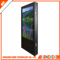 Double sided digital totem like a door open for shopping mall rental event with windows android os camera
