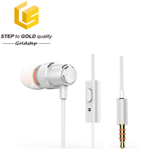 China mono wired earphone single ear headset with microphone
