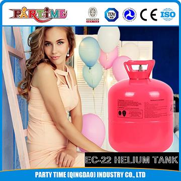 Balonlar için Promosyon Silindir Helyum 30LB Tek Kullanımlık Helyum Gaz Tankı