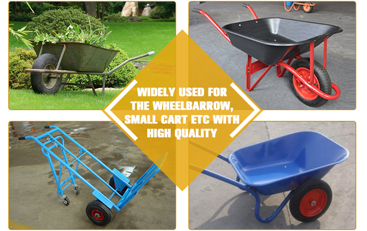 Lowes pneumatic wheelbarrow tire for hand trolley