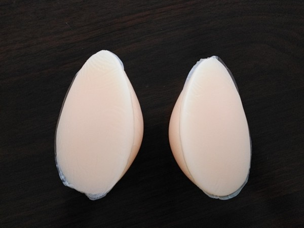 Super Small Silicone Breast Forms for Breast Cancer Teaching Teardrop Shape 180g/pair