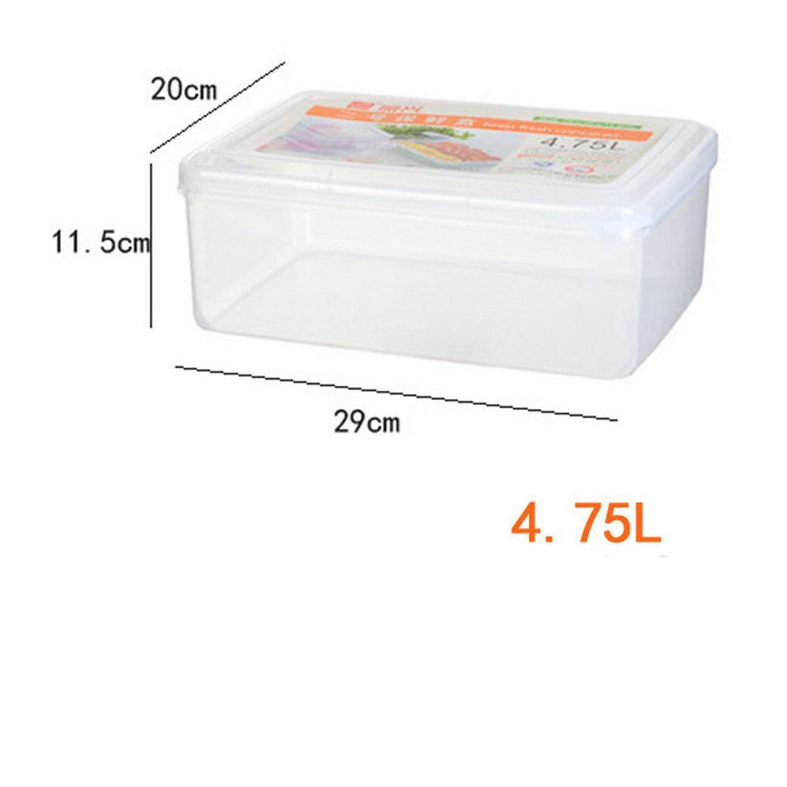 jii2030shann Plastic storage box sticky end dumpling boxes microwave box refrigerated box refrigerator crisper dumplings box refrigerator crisper dumplings box crisper refrigerator crisper cold boxes