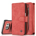 Top and hot selling phone case,Detachable Zipper Wallet Case for Samsung S7