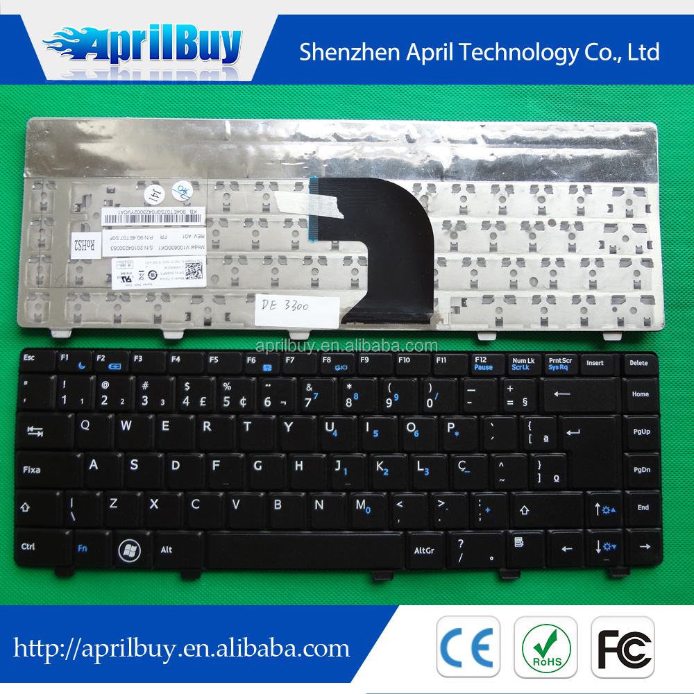 Hot sale & high quality replacement laptop keyboard for DELL VOSTRO 3300 3500 BR/US/UK keyboard