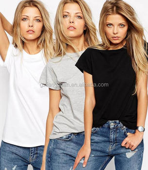 94fb8ef09f9 2016 Summer fashion loose casual white black plain women white tee shirt  models short sleeve blouse
