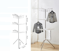 Ajustable & foldable 3 tiers clothes drying rack laundry rack with umbrella shape