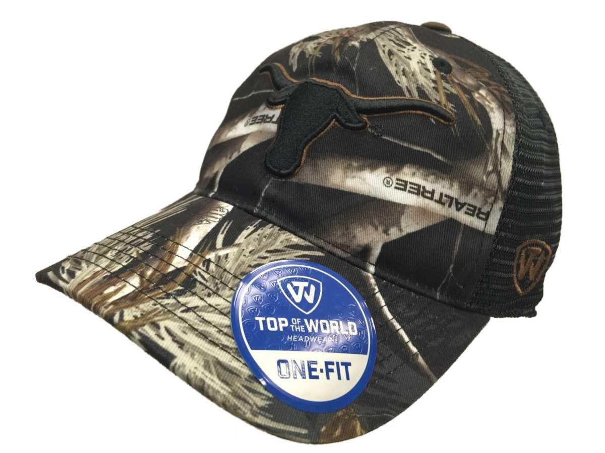 Texas Longhorns TOW Black Realtree Camo Harbor Mesh Flexfit Slouch Hat Cap e25833787f6e
