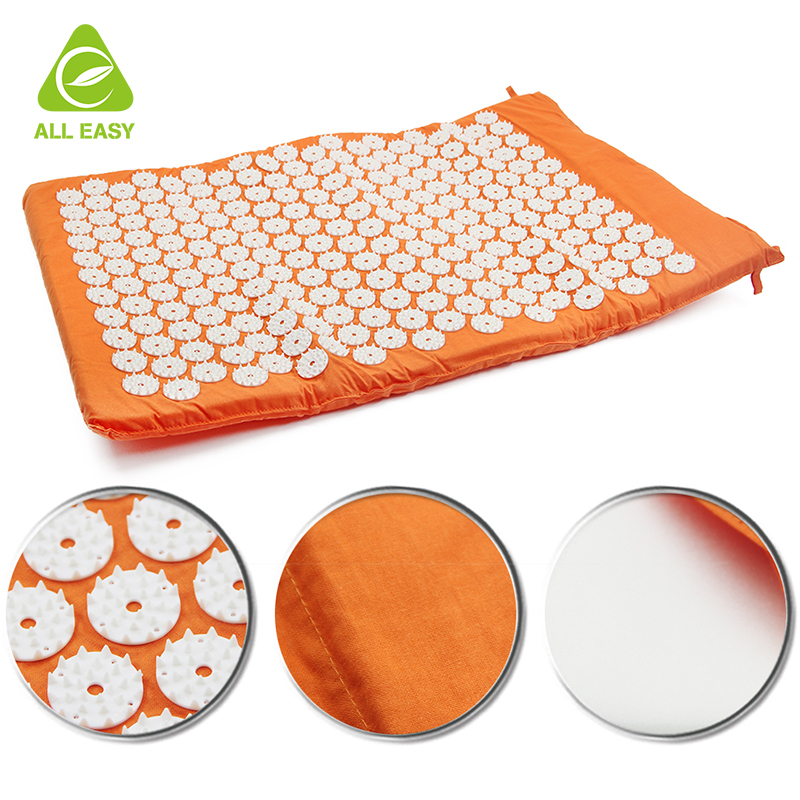 3 Piece Set Back and Neck Pain Relief Acupressure Foot Mat