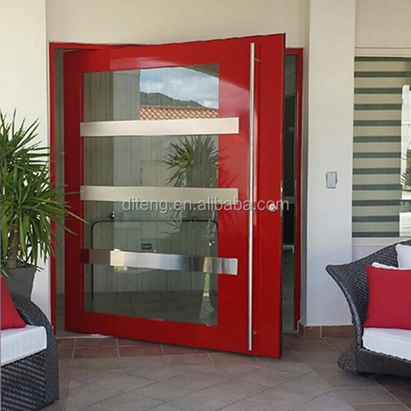 Large Heavy Duty Commercial Pivot Doors Design with Glass Outswing China Cheap Single Leaf Aluminum Pivot Entry Storm Doors