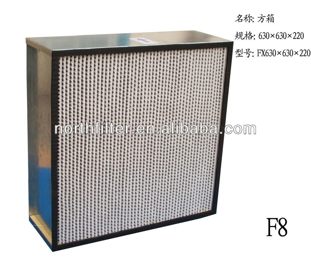 BF high efficiency and high humidity air filter for clean room