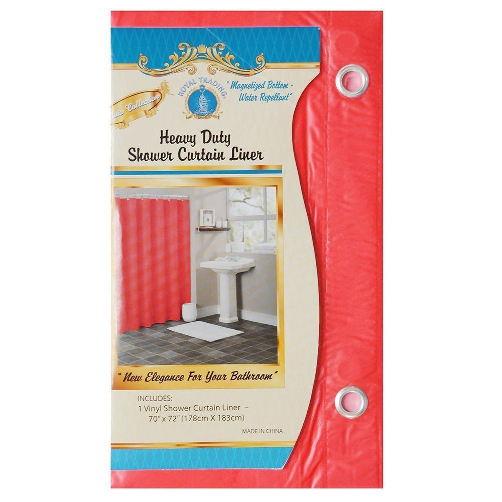 Get Quotations SOLID BRIGHT RED BATHROOM VINYL PLASTIC SHOWER CURTAIN LINER WITH METAL GROMMET
