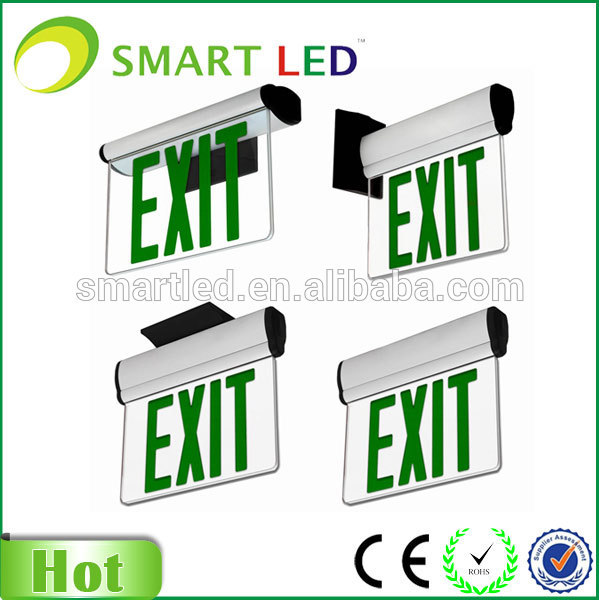 CE RoHS SAA factory NEW design universal install ways 3 watts Led exit sign fixtures, fire exit sign, fire safety exit sign