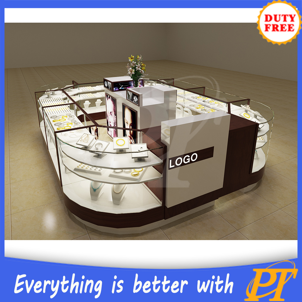 Customize mall jewelry kiosk design shopping mall glass for Jewelry sale online shopping
