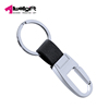 Simple Silver Business Benutzerdefiniert Tailor-made Logo Zinc Alloy Promotional Key Holder Keychain