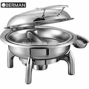 Kitchen catering equipment methanol gel fuel heated sunbeam full size 2 quart chafing dish