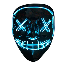 Halloween LED EL Wire neon flashing mask whosale el party mask