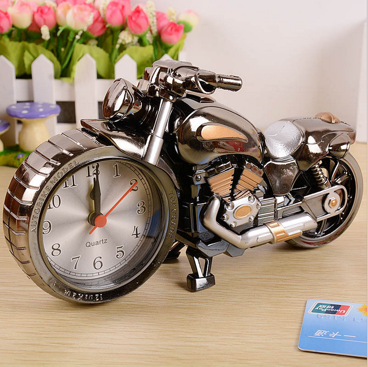 wholesale table decoration plastic motorcycle alarm clock