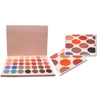 Private Label Professional High Pigment Cosmetics 35 Color Shimmer & Matte Eyeshadow Palette For Women