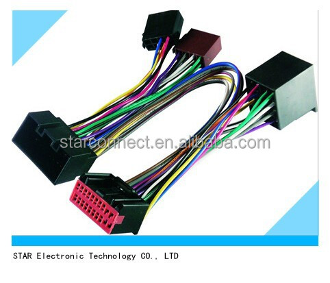 Custom Automobile Audio Iso Wire Harness For Jaguar