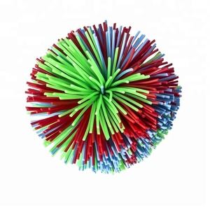 2018 hot selling monkey stringy balls, silicone fluffy juggling bouncing koosh ball