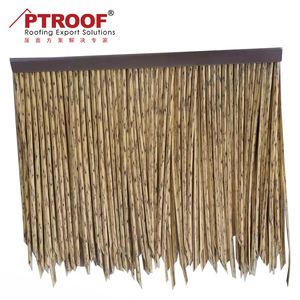 PE fireproof artificial plastic synthetic palm thatch roofing