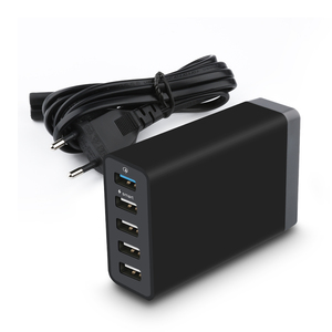 NEW Technology Qualcomm 3.0 Mobile Phone universal Travel 5 port usb wall charger with CE RoHS FCC certifications