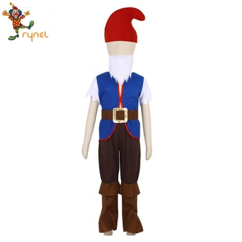 Lovely Kids Boys Christmas Elf Dwarfs Fairy Cosplay Costume Fancy Dress Up