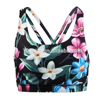 0520d51a76 Customized sublimated print tiger design women fitness yoga sport bra crop  top